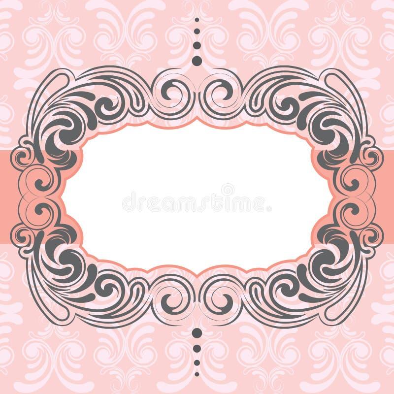 Różowy ramowy projekt royalty ilustracja