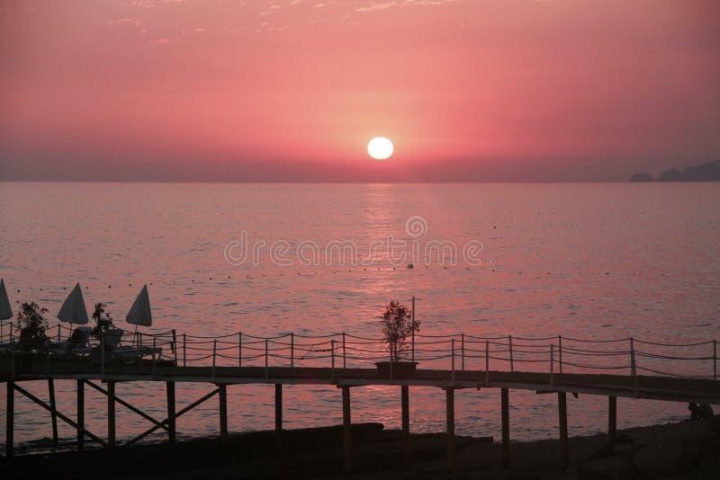 różowy słońca fotografia royalty free