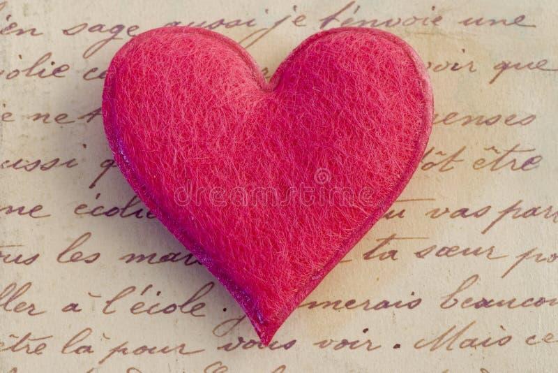 różowy serce fotografia stock