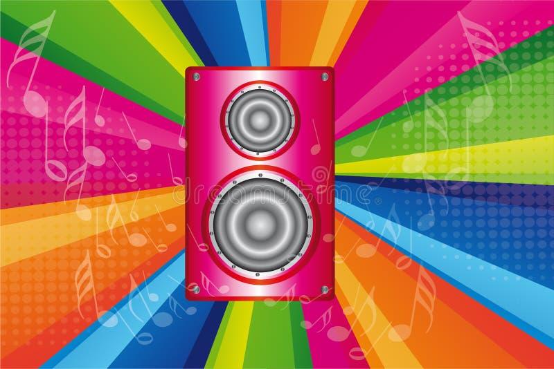 Różowy stereo royalty ilustracja