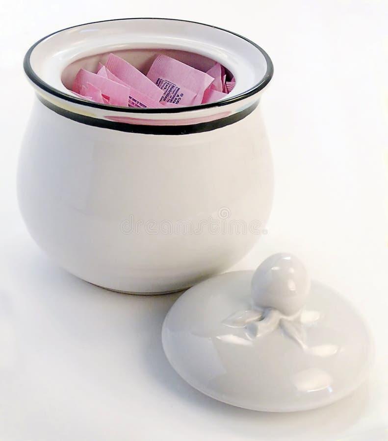 różowy sweetner miski obraz royalty free