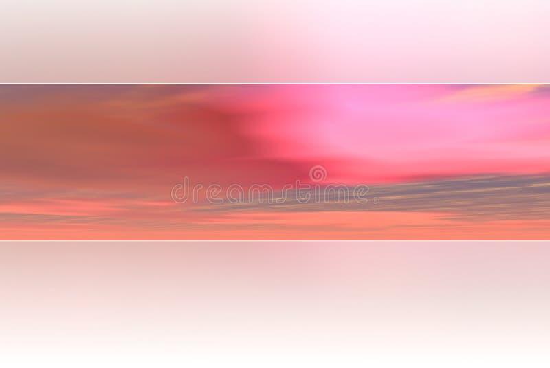 różowy tła niebo ilustracji