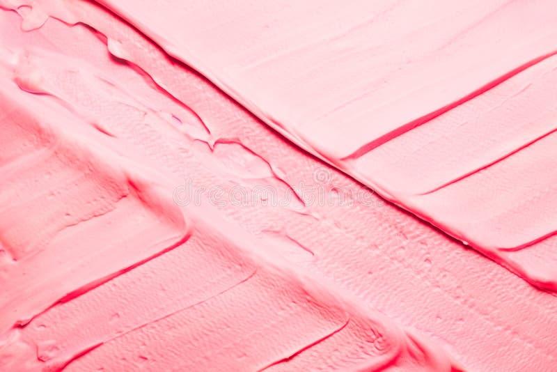 Różowy tło krzyżujący farb brushstrokes fotografia royalty free