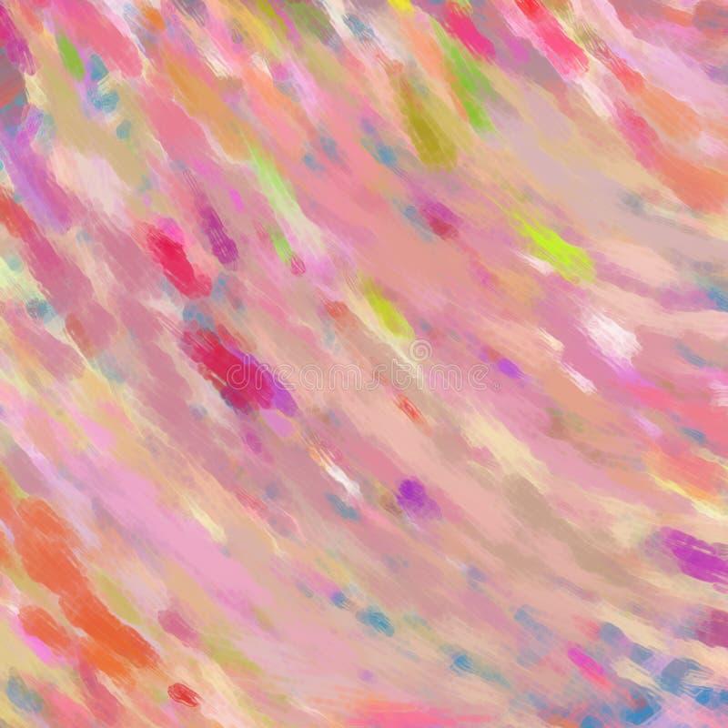 Różowy tło z kolorem bryzga w abstrakcjonistyczny szkło textured wzorze fotografia stock
