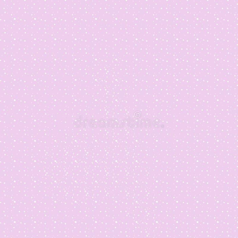 Różowy tło z polek kropkami różni rozmiary royalty ilustracja