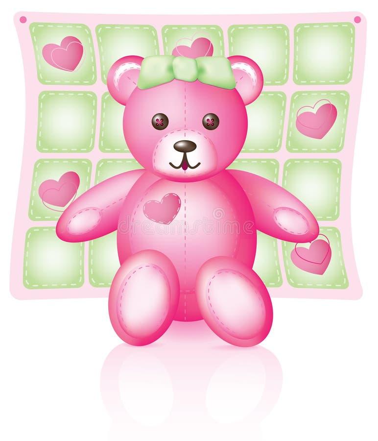 różowy teddy bear ilustracji