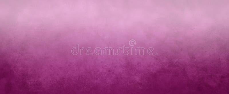 Różowy textured tło z miękką mgłową białą gradientową plamą na wierzchołku, granica, słabo narys teksturę i świat royalty ilustracja