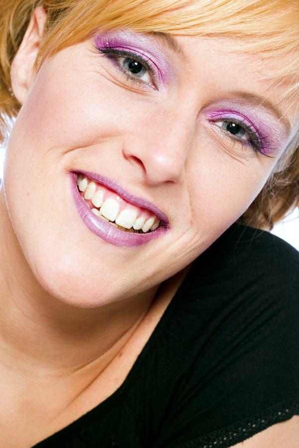 różowy uśmiech zdjęcie stock
