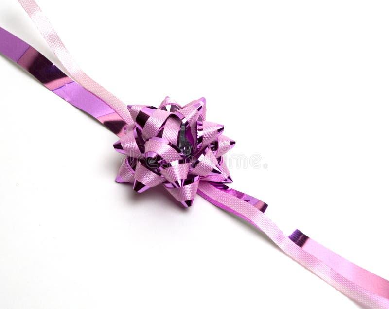różowy ukłon obraz royalty free