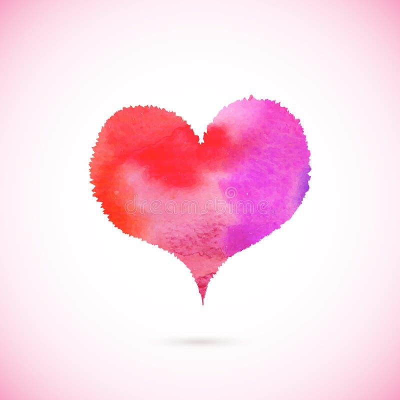 Różowy wektor malujący serce obraz stock