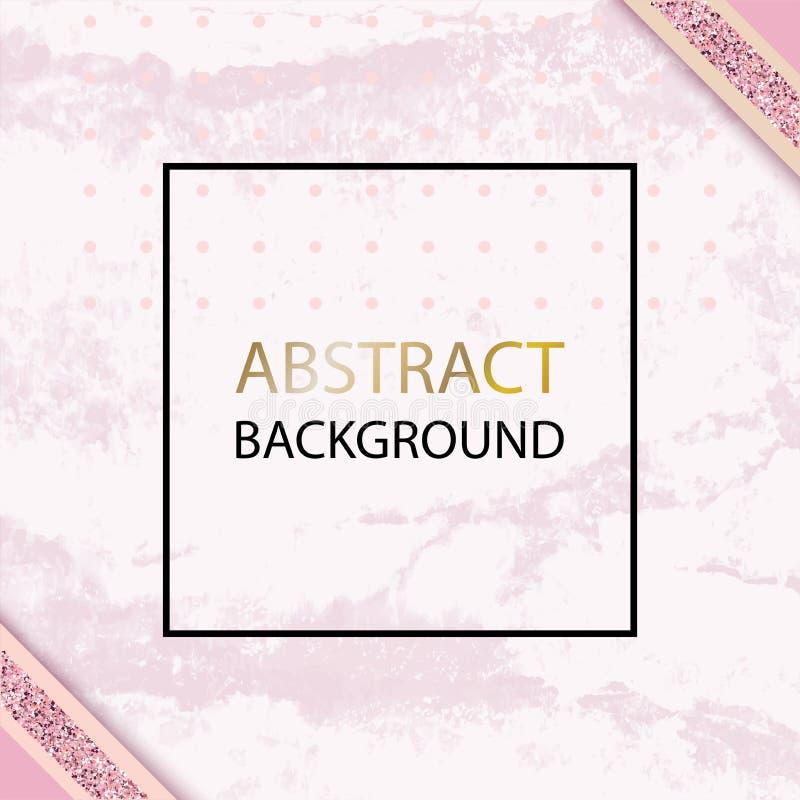 Różowy wektorowy grunge tło z czerń cienkim kwadratem dla poślubiać, kosmetyk, 8 maszeruje, parfume robi zakupy ilustracja wektor