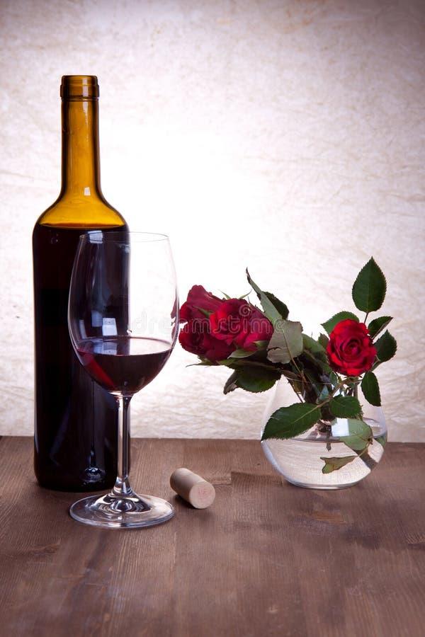 róży czerwony wino zdjęcie royalty free