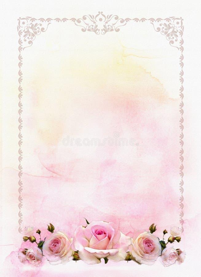 Róży granica obraz royalty free