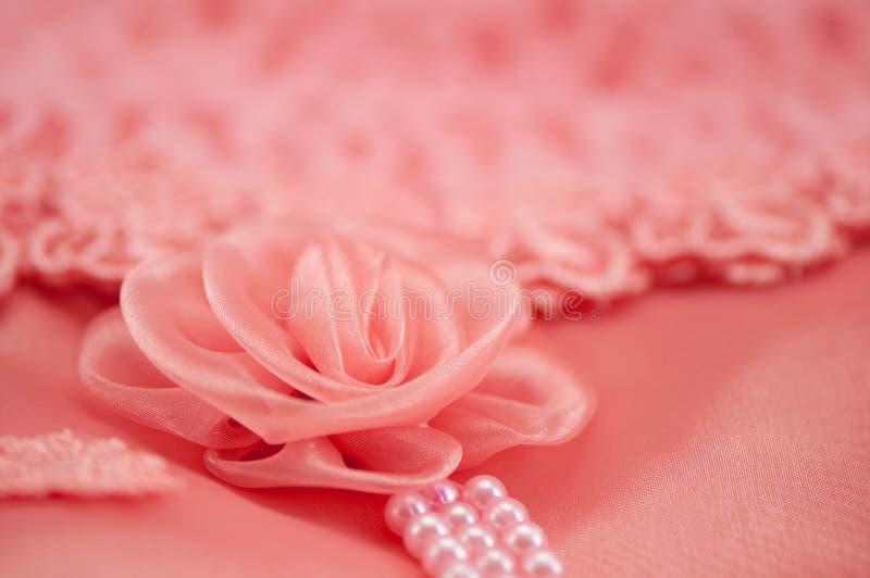Róży koronki miękka ostrość zdjęcia stock