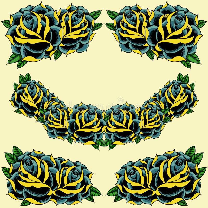 Róży rama ilustracji