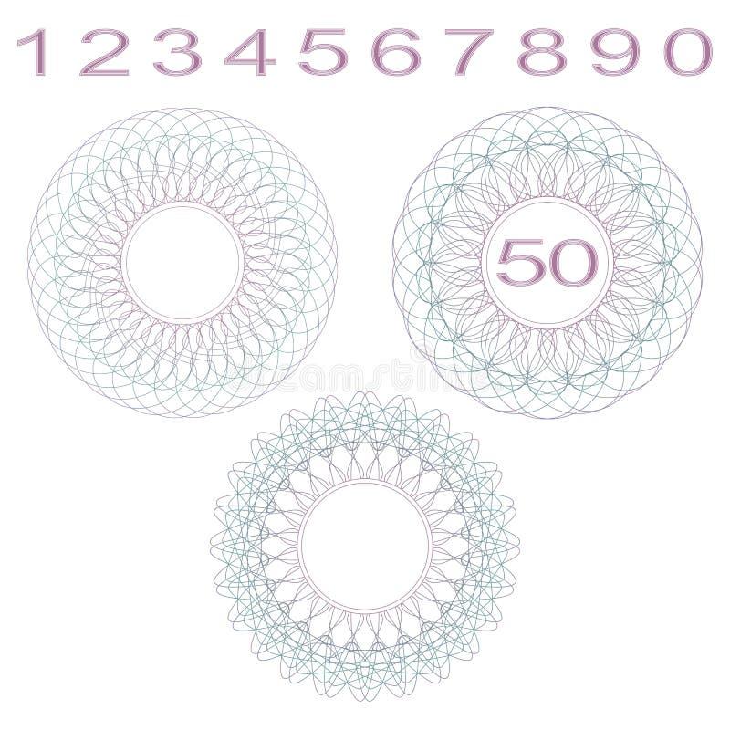 Różyczki i liczby ilustracja wektor