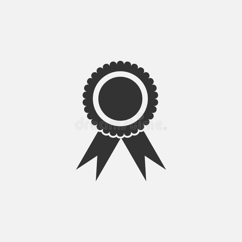 Różyczkowa ikona, nagroda, faborek, mistrz ilustracja wektor