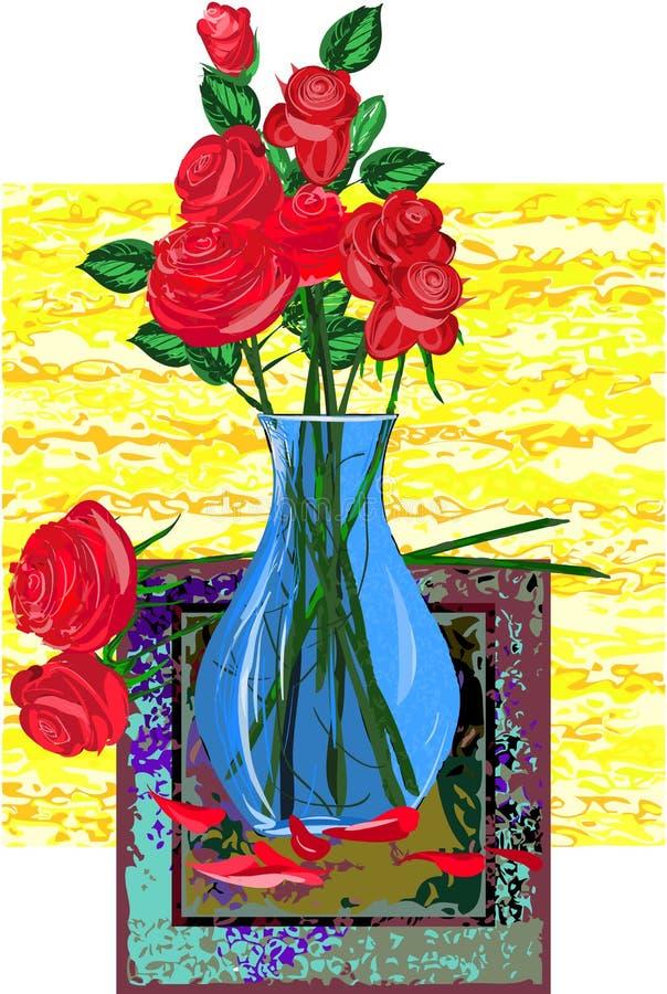 Download Róże ilustracja wektor. Ilustracja złożonej z roślina - 28951751