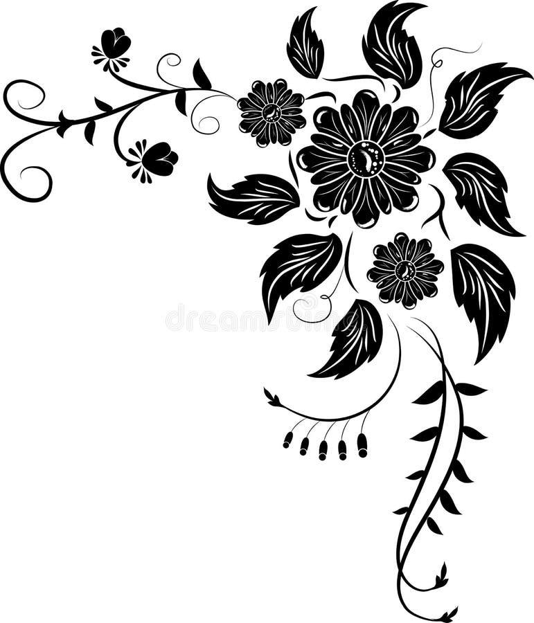 róg elementy projektu kwiat royalty ilustracja