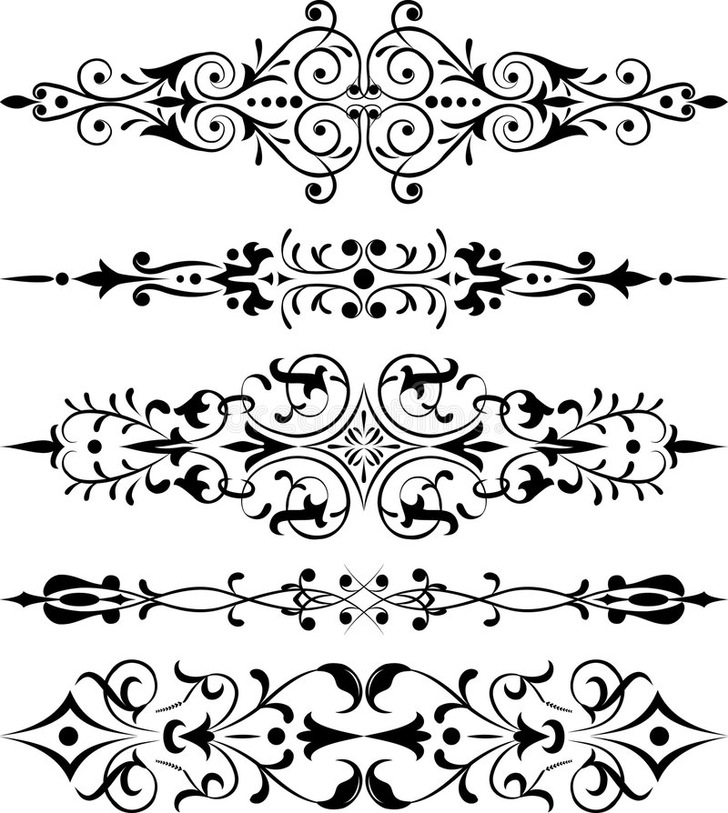róg elementy projektu kwiatek wektora royalty ilustracja