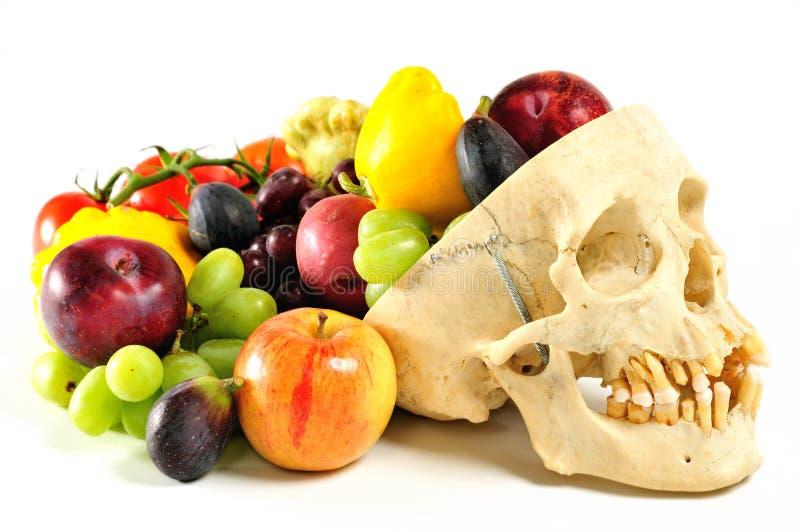 róg obfitości ludzkiej czaszki obraz royalty free