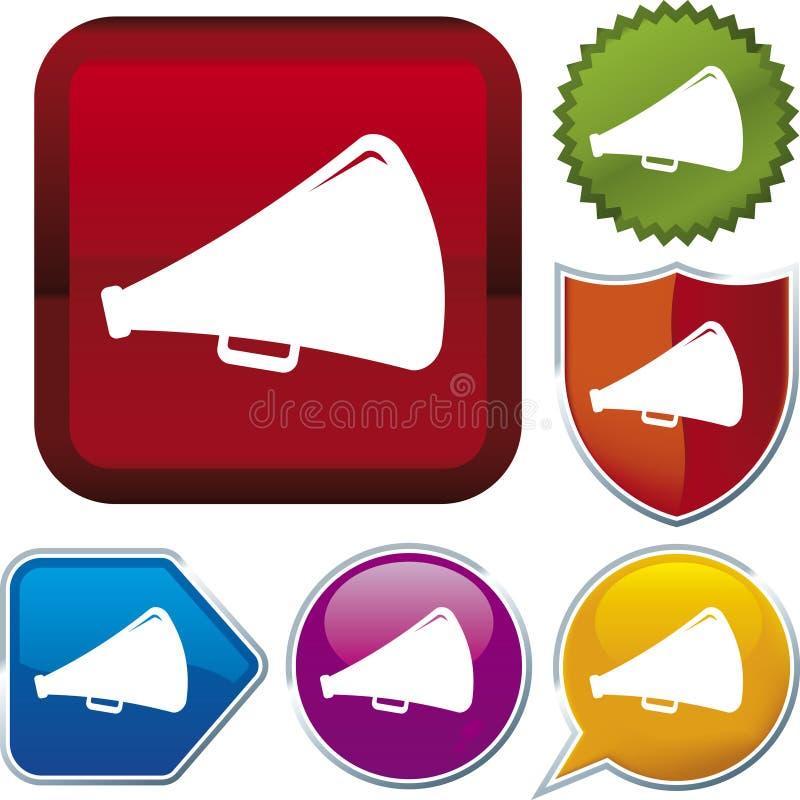 róg serię głośnikowe ikony ilustracji