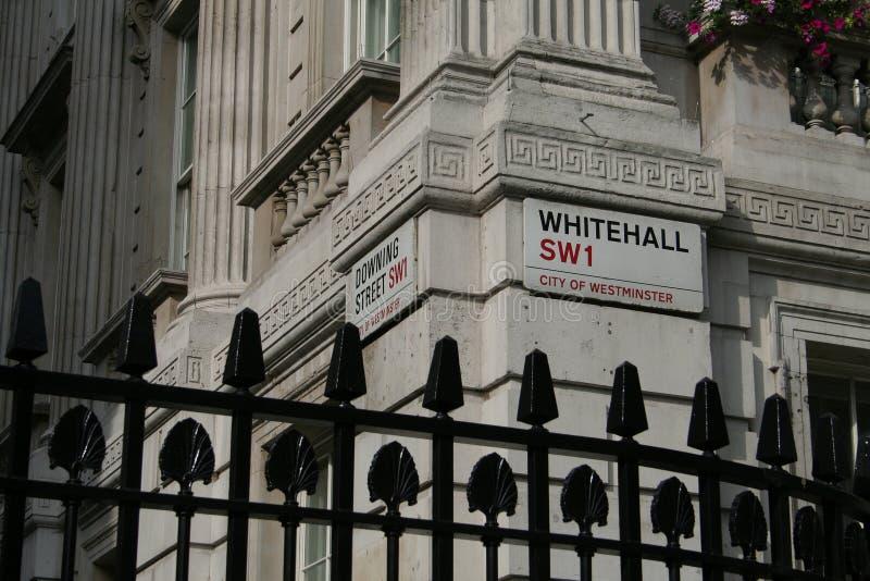róg ulicy w Whitehall obrazy royalty free