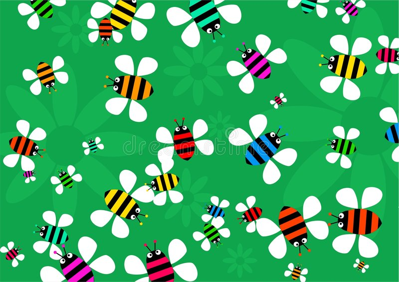 rój pszczół royalty ilustracja
