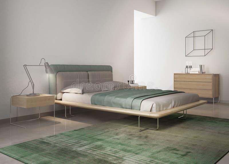 Rówieśnik zielona sypialnia zdjęcia stock