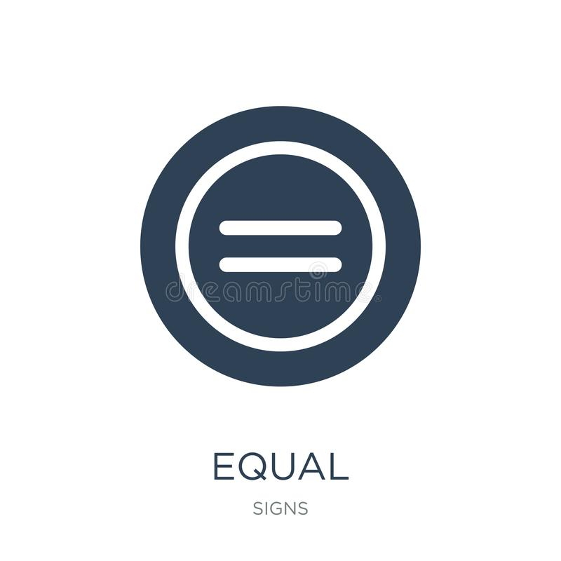 równa ikona w modnym projekta stylu równa ikona odizolowywająca na białym tle równej wektorowej ikony prosty i nowożytny płaski s royalty ilustracja