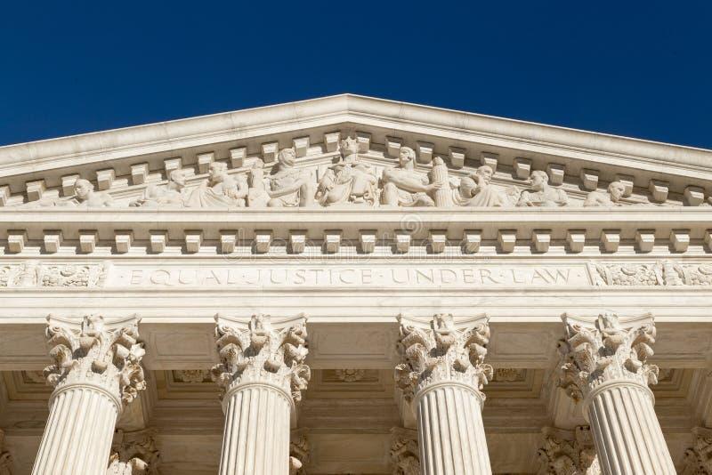 Równa sprawiedliwość Pod prawem (tekst przy przodem sąd najwyższy U S ) obraz stock