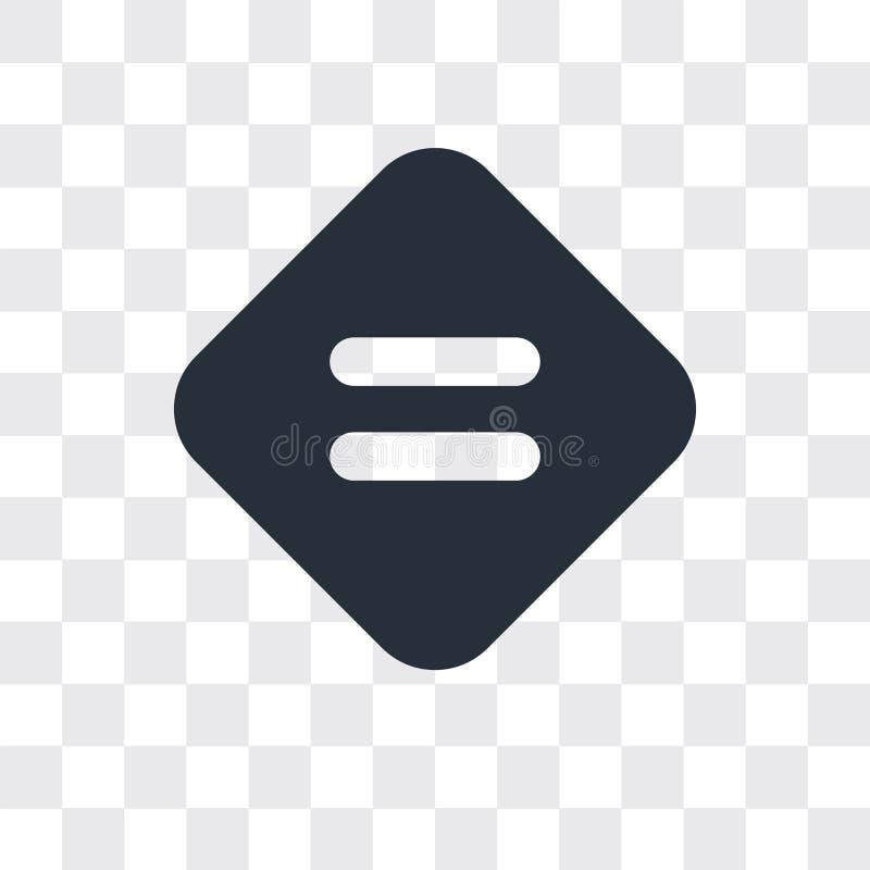 Równa wektorowa ikona odizolowywająca na przejrzystym tle, Równy loga projekt royalty ilustracja