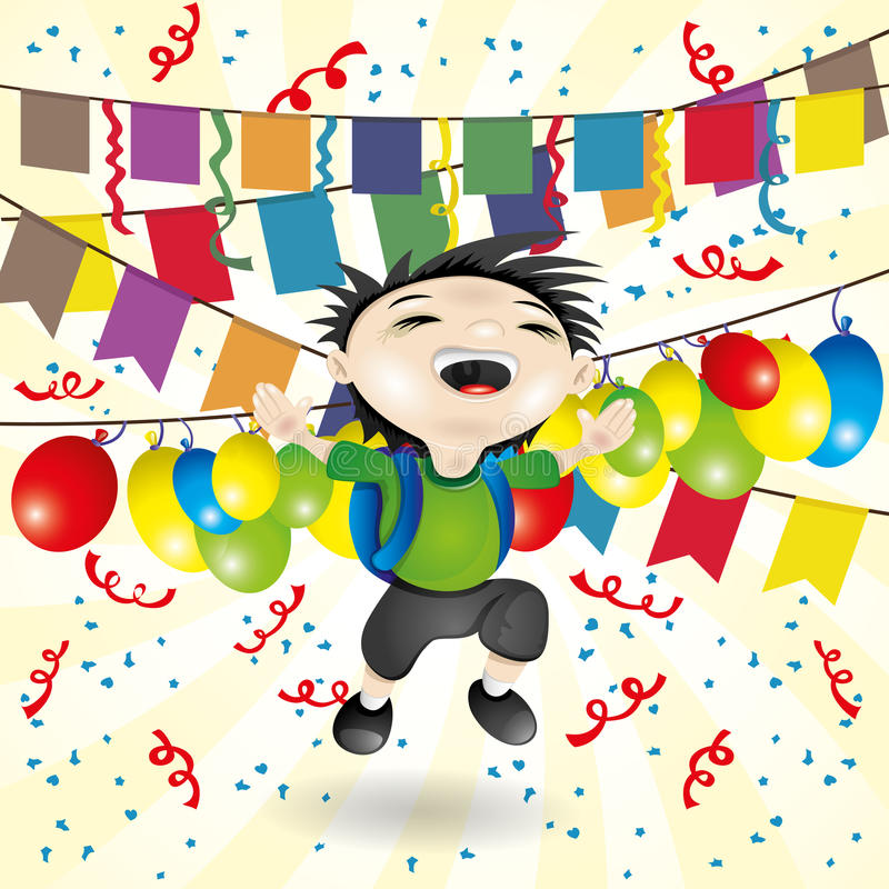 również zwrócić corel ilustracji wektora chłopcy szczęśliwa ilustracji