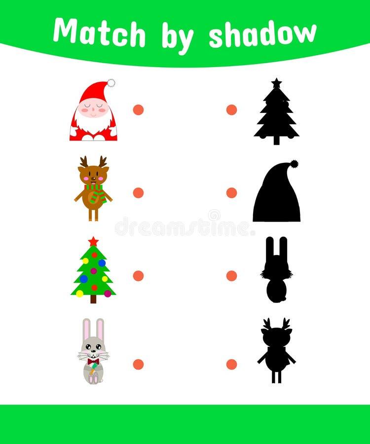 również zwrócić corel ilustracji wektora Dopasowywanie gra dla dzieci Łączy sha ilustracja wektor