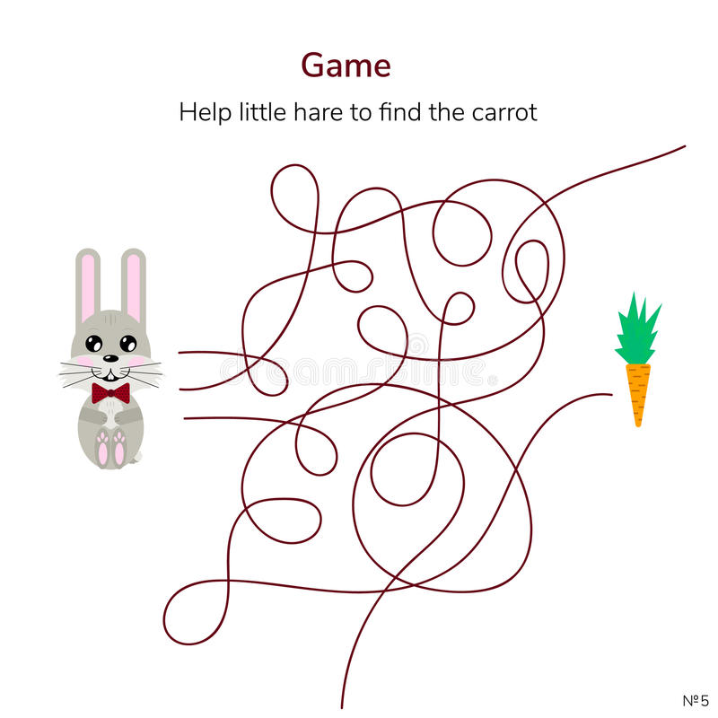 również zwrócić corel ilustracji wektora Gra dla dzieci labirynt lub labitynt dla ki ilustracji