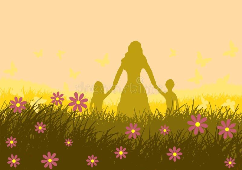 również zwrócić corel ilustracji wektora Ilustracja matka dzień royalty ilustracja