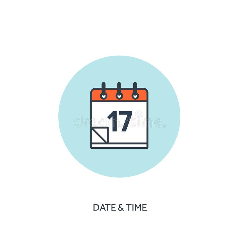 również zwrócić corel ilustracji wektora Kalendarz prążkowana ikona Daktylowy czas Wakacyjny planowanie royalty ilustracja