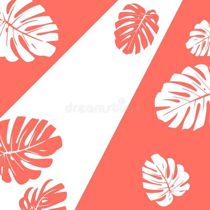 również zwrócić corel ilustracji wektora Kolor rok 2019 Żywy koral Silho royalty ilustracja
