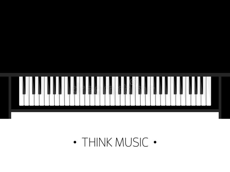 również zwrócić corel ilustracji wektora Muzykalny płaski tło Pianino klucz z klawiaturą melodia instrument ilustracja wektor