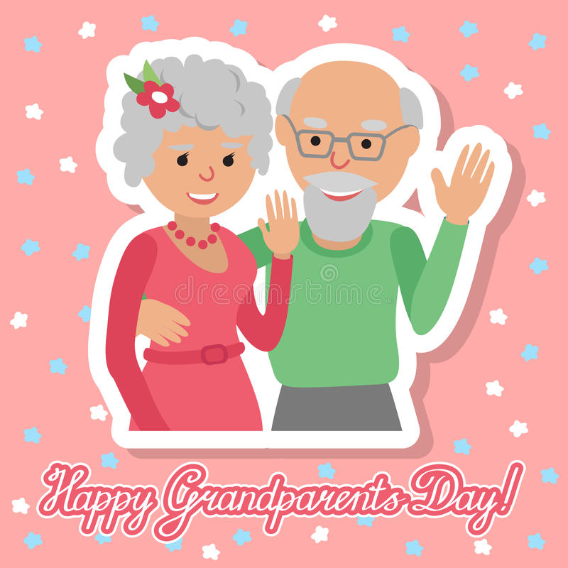 również zwrócić corel ilustracji wektora Szczęśliwy dziadka dzień ilustracja wektor