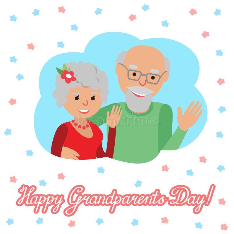 również zwrócić corel ilustracji wektora Szczęśliwy dziadka dzień Para w chmurze ilustracji
