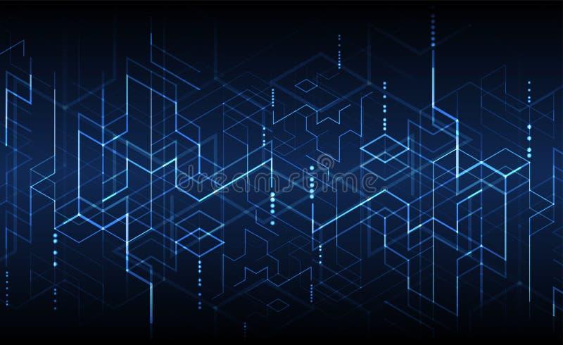 również zwrócić corel ilustracji wektora Technologii cyfrowej i inżynierii backgrou royalty ilustracja