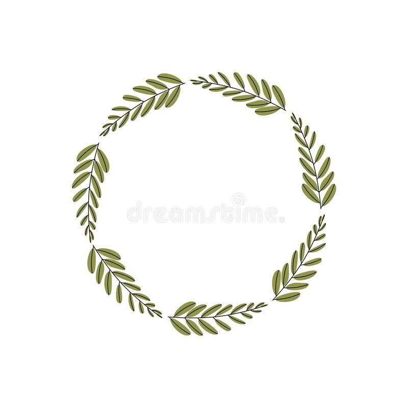 również zwrócić corel ilustracji wektora Wystrój rośliny ramy kwiecisty projekt botaniczny wzór w trandy kolorze ilustracja wektor