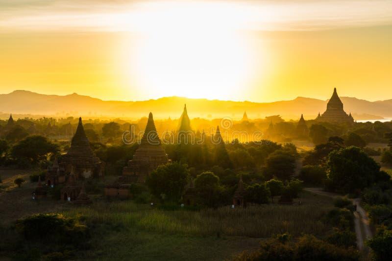 Równina Mandalay Bagan, Myanmar (poganin) zdjęcie royalty free