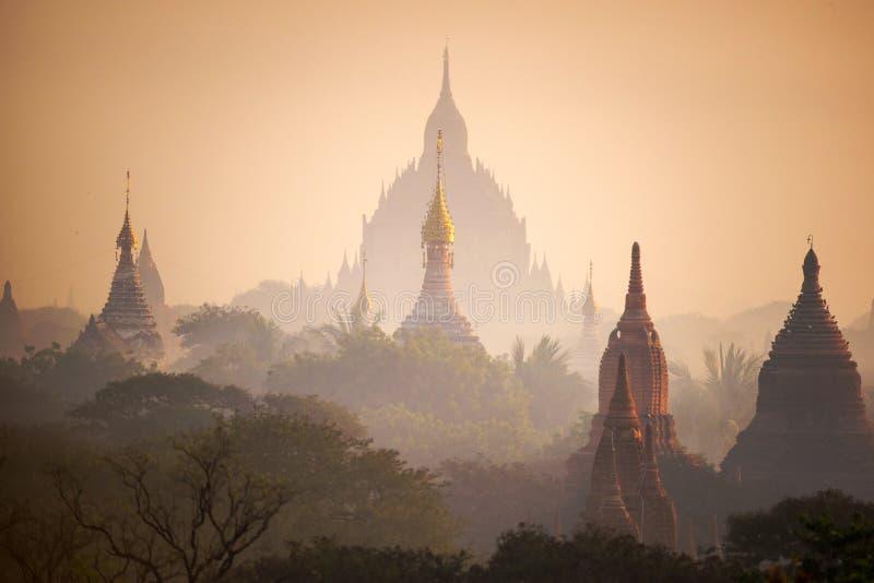 Równina Mandalay Bagan, Myanmar (poganin) obrazy royalty free