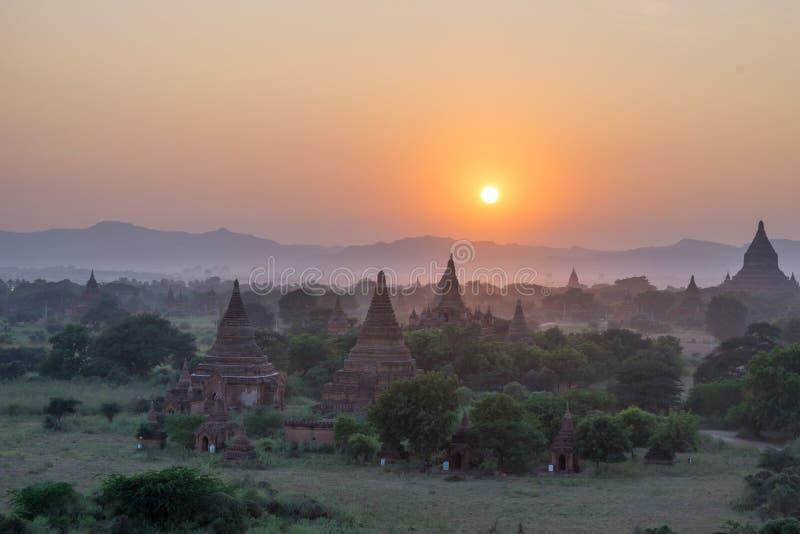 Równina Mandalay Bagan, Myanmar (poganin) fotografia stock