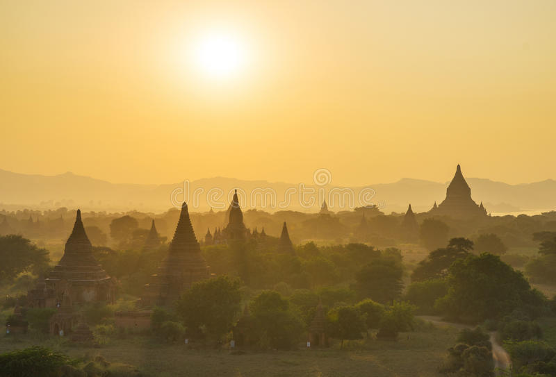 Równina Mandalay Bagan, Myanmar (poganin) obraz royalty free