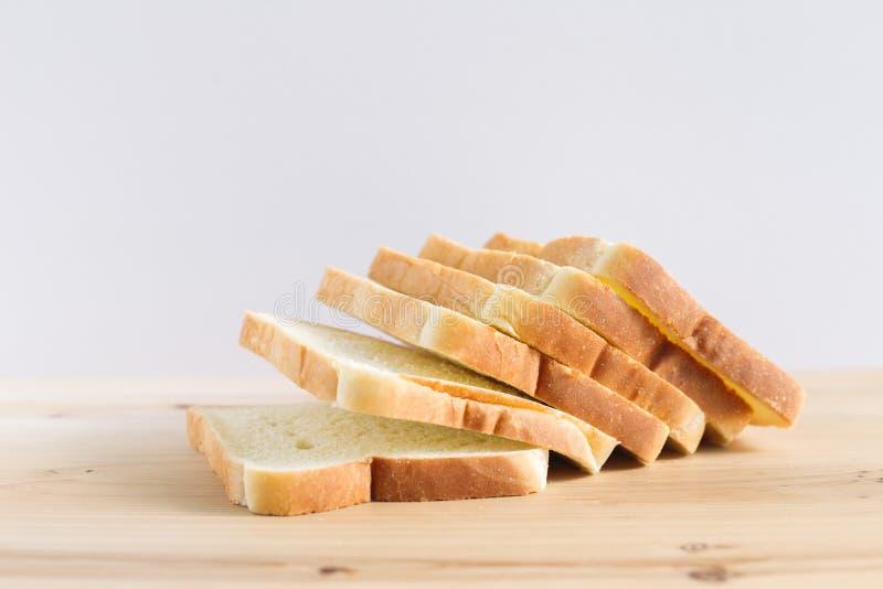 Równina pokrojony biały chleb obraz stock