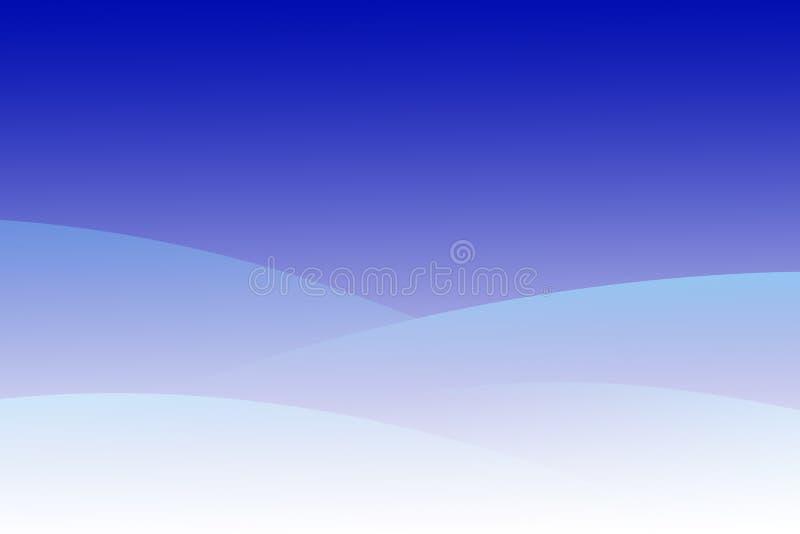 równiny krajobrazowej stylizowana zimy. royalty ilustracja
