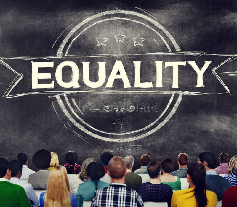 Równości dyskryminaci równy morału Balansowy pojęcie obrazy royalty free